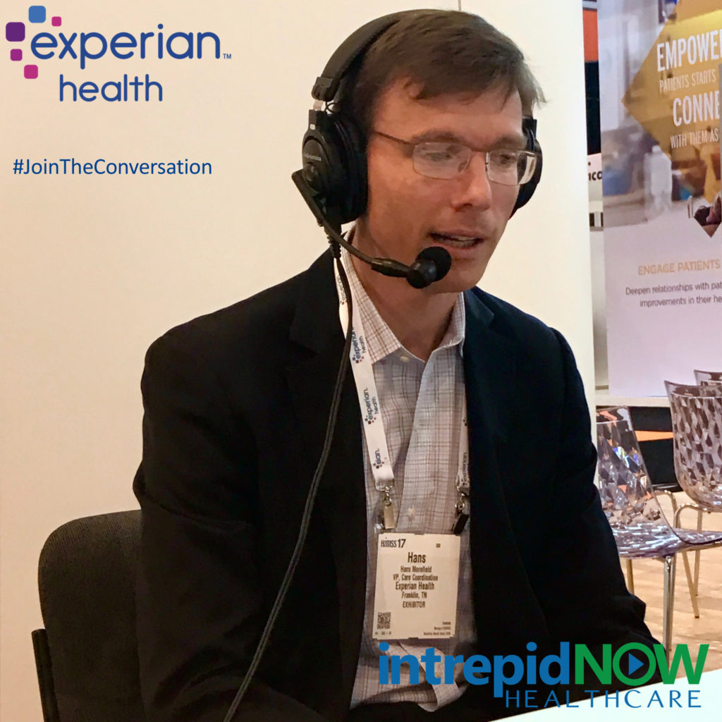 #JoinTheConversation with Experian Health's Hans Morefield at #HIMSS17
