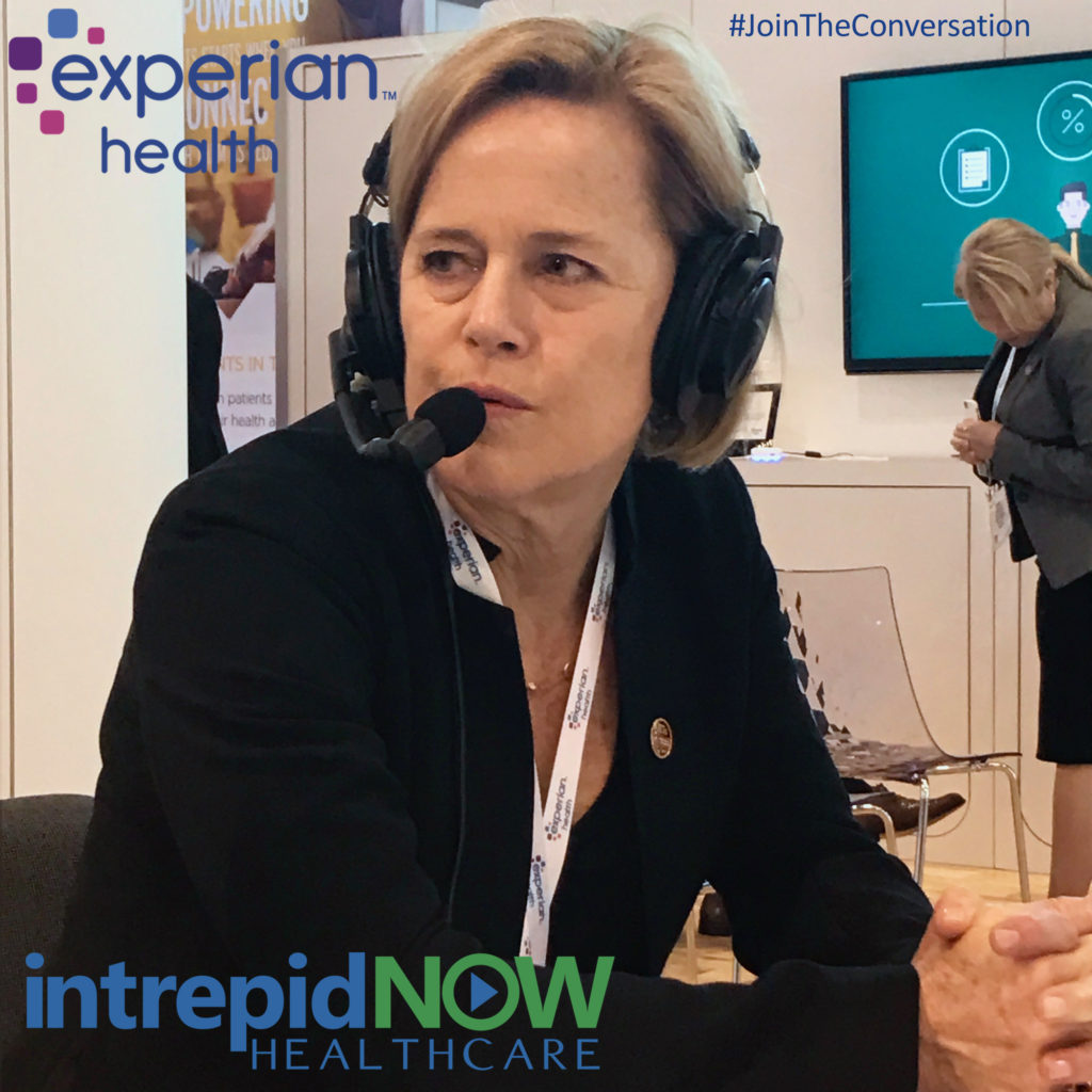 #JoinTheConversation with Experian Health's Kathleen Harris at #HIMSS17
